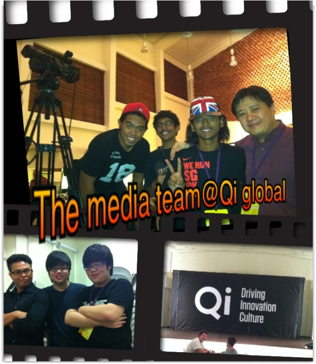 The Media Team from Singapore Polytechnic with Joshua