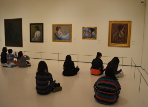 SAC students sketching at Picasso Museum